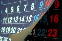 Numéros de calendrier Photos libres de droits