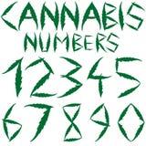 Numéros de cannabis Photos libres de droits