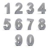 Numéros de chrome Photographie stock