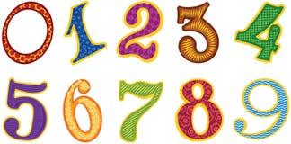 Numéros de couleur de dessin animé Photos stock