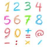 Numéros de crayon Photographie stock libre de droits