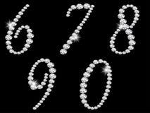 Numéros de diamant Images stock