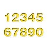 Numéros de diamant Photos libres de droits