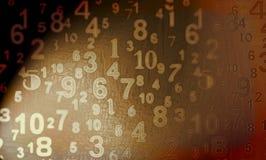 Numéros de Digitals Photo libre de droits