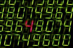 Numéros de Digitals avec un mis en valeur Images libres de droits