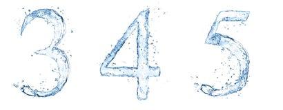 Numéros de l'eau Photo stock