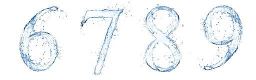 Numéros de l'eau Images stock