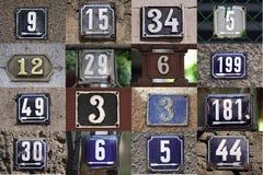 Numéros de maison Photographie stock libre de droits