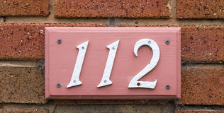 Numéros de maison Photo libre de droits