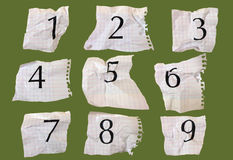 Numéros de papier de graphique Photographie stock