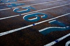 Numéros de piste de chemin Photos libres de droits