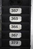 Numéros de plaque Photographie stock