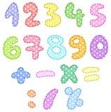 Numéros de point de polka avec des points Photo stock