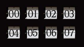 Numéros de pointage de chiquenaude photo stock