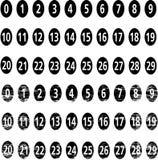 Numéros de vecteur Images libres de droits