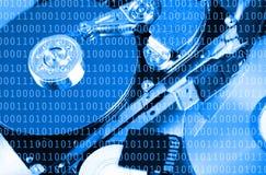 Numéros des données de code binaire Photo libre de droits