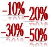 numéros des pour cent 3D Images stock