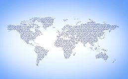 Numéros du monde de Digitals illustration de vecteur