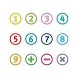 Numéros en cercles Image libre de droits