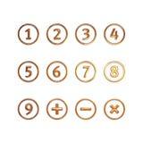 Numéros en cercles Images stock
