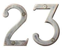 Numéros en métal Photo stock