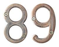 Numéros en métal Photographie stock libre de droits
