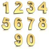 Numéros en métal réglés Photos stock