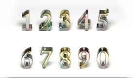 Numéros en verre colorés photographie stock libre de droits