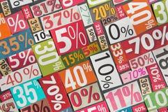 Numéros et pourcentages Images stock