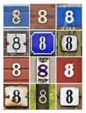 Numéros huit images stock