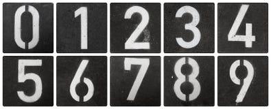 Numéros marqués au poncif photographie stock
