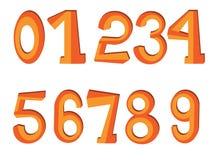 Numéros réglés Photographie stock libre de droits