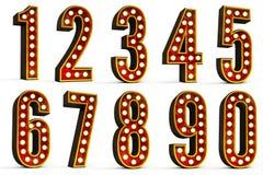 Numéros réglés Photographie stock