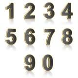 Numéros réglés Images libres de droits