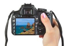 Numéros 2014 sur la plage Images libres de droits