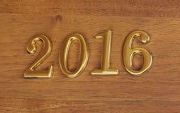 Numéros 2016 sur la porte - fond de nouvelle année Image libre de droits