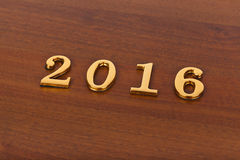 Numéros 2016 sur la porte - fond de nouvelle année Images stock