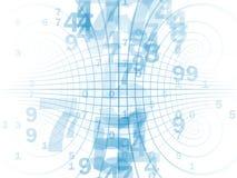 Numéros sur le réseau illustration stock