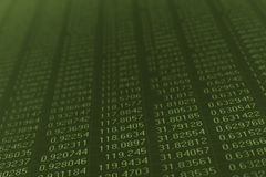 Numéros sur un moniteur d'ordinateur Image stock