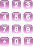 Numérote des boutons Photos stock