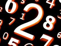Numérote des caractères de chiffres des figures Image libre de droits