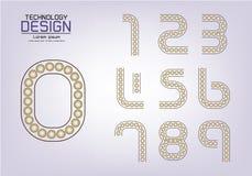 Numérotez l'ensemble de logo de nombres ou d'icône, concept de lampe Photo libre de droits