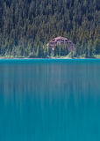 Num-Ti-Jah Lodge on Bow Lake Royalty Free Stock Images