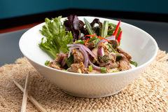 Num Tok Thai Steak Beef Salad Stock Photos