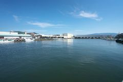 Numazu-Hafen in Shizuoka, Japan Stockfotos