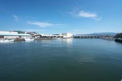 Numazu port i Shizuoka, Japan Arkivfoton