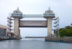Numazu Tsunami Gate Royalty Free Stock Photography