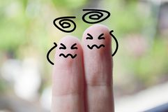 Numb fingers Stock Image