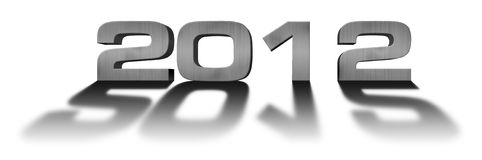 Number «2012». With shadow on white royalty free illustration