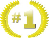 Number 1 award Stock Photo